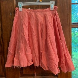 Free People Wrap Skirt Size XS Orange